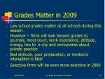 grades matter in 2009
