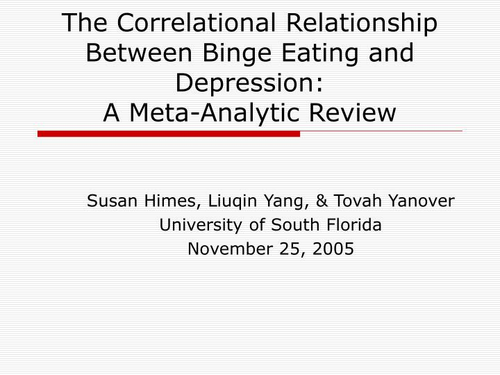 the correlational relationship between binge eating and depression a meta analytic review