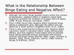 what is the relationship between binge eating and negative affect