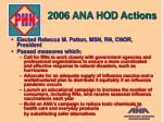 2006 ana hod actions