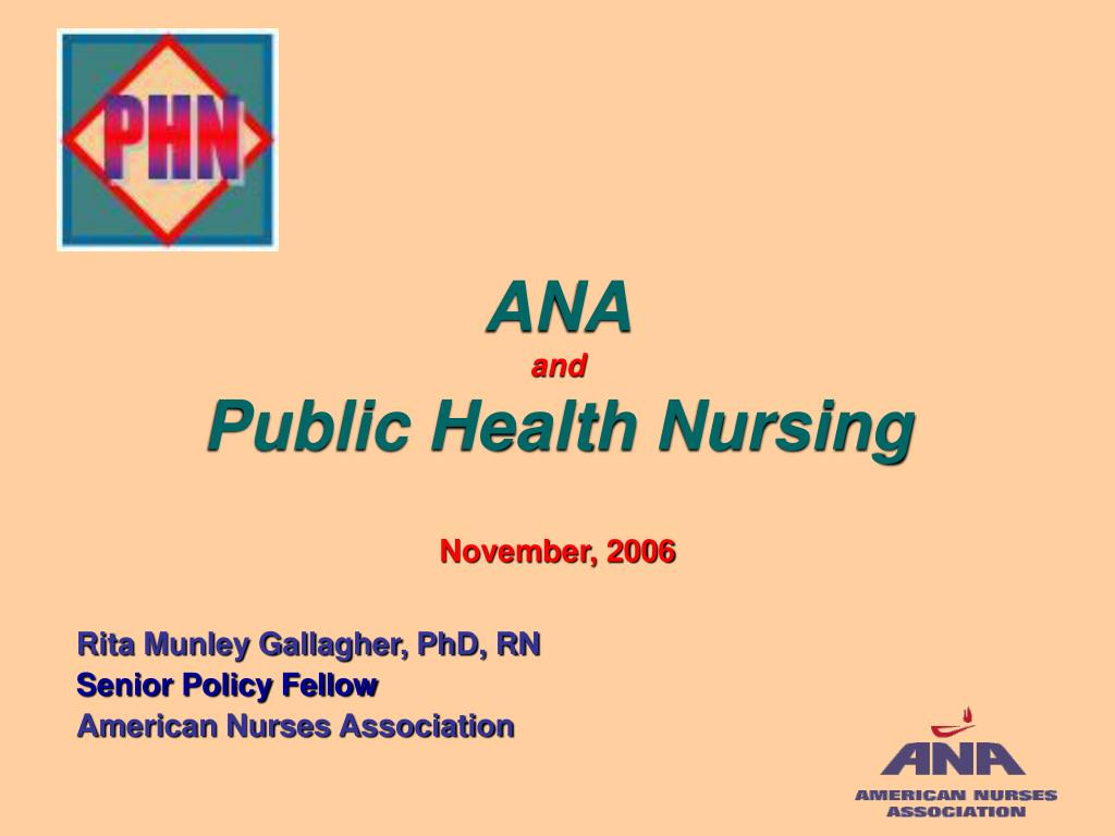 ana and public health nursing november 2006 l.
