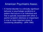 american psychiatric assoc