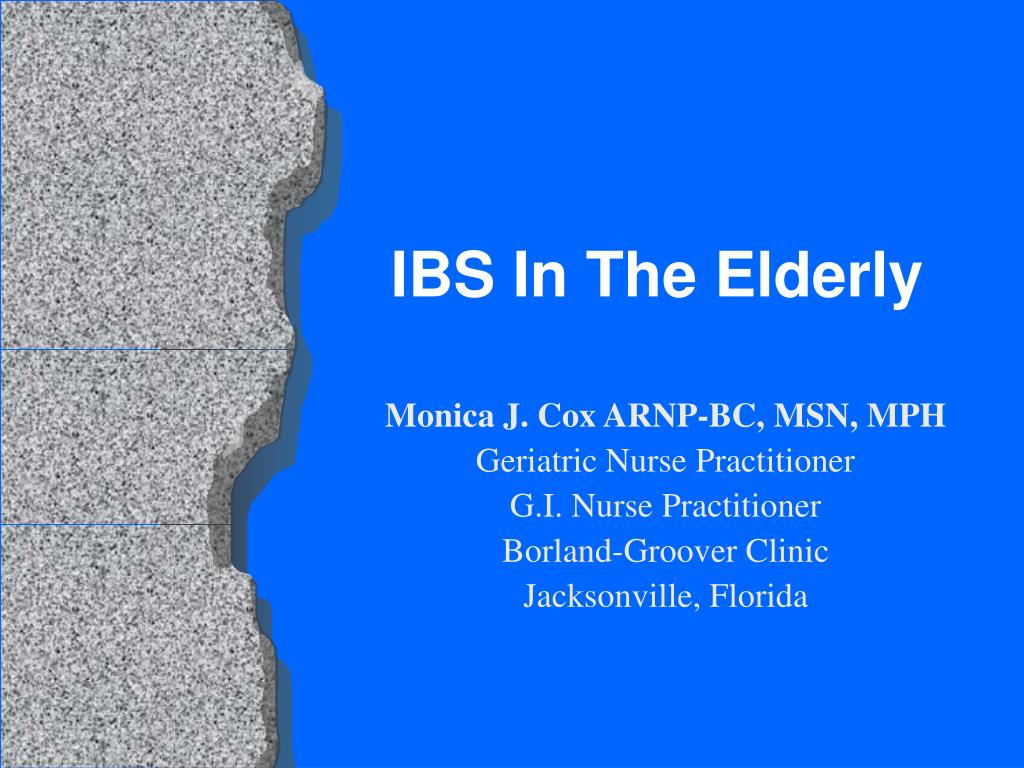 ibs in the elderly l.