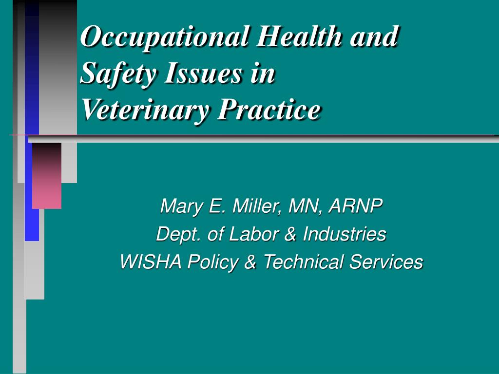 occupational health and safety issues in veterinary practice l.