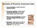 examples of phonemic awareness tasks