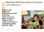 what do we know about inclusion and literacy