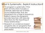 what is systematic explicit instruction