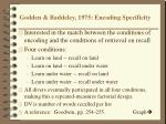 godden baddeley 1975 encoding specificity