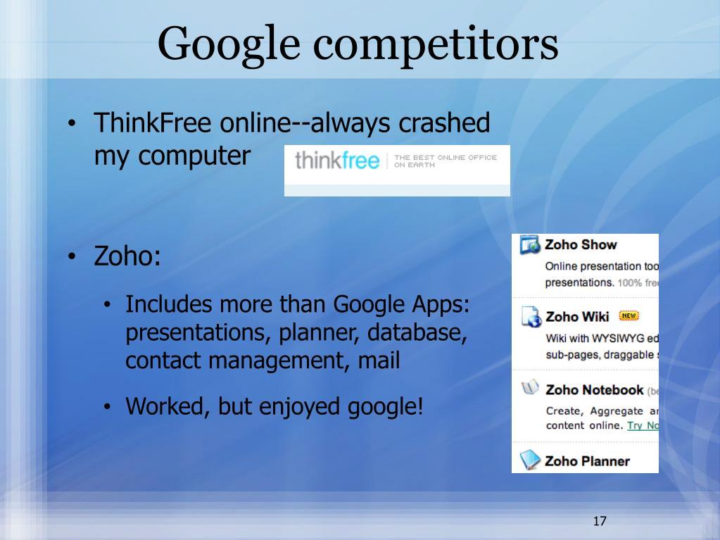 Google competitors
