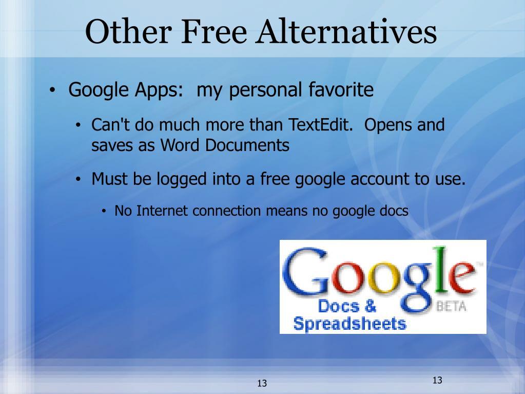 Other Free Alternatives