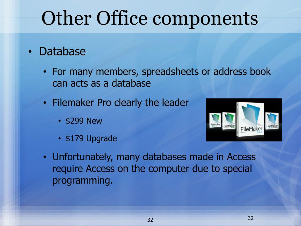Other Office components