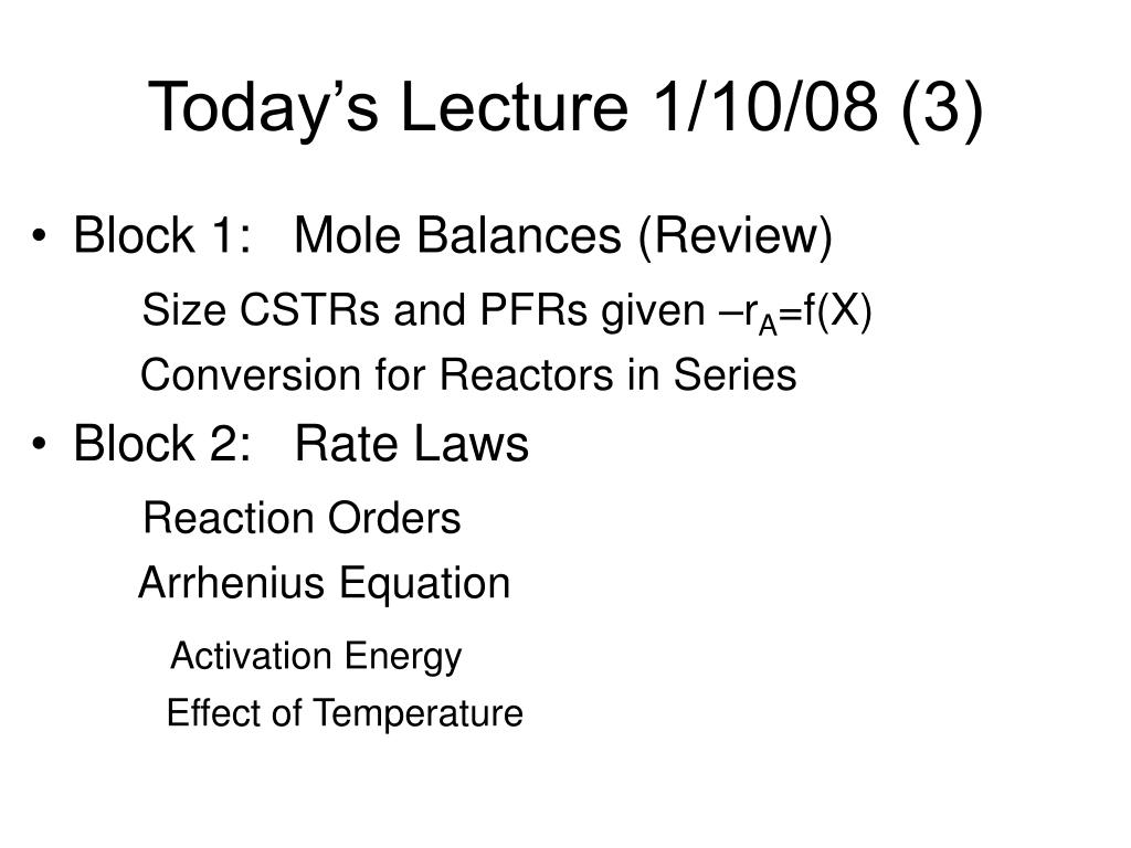today s lecture 1 10 08 3 l.