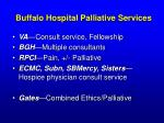 buffalo hospital palliative services