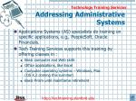 addressing administrative systems