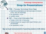drop in presentations