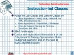 instructor led classes