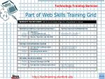 part of web skills training grid