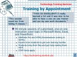 training by appointment