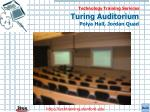 turing auditorium polya hall jordan quad