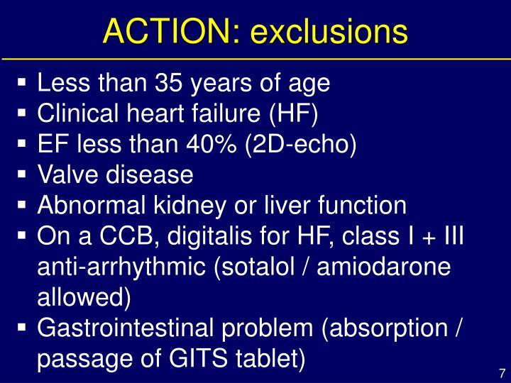 ACTION: exclusions