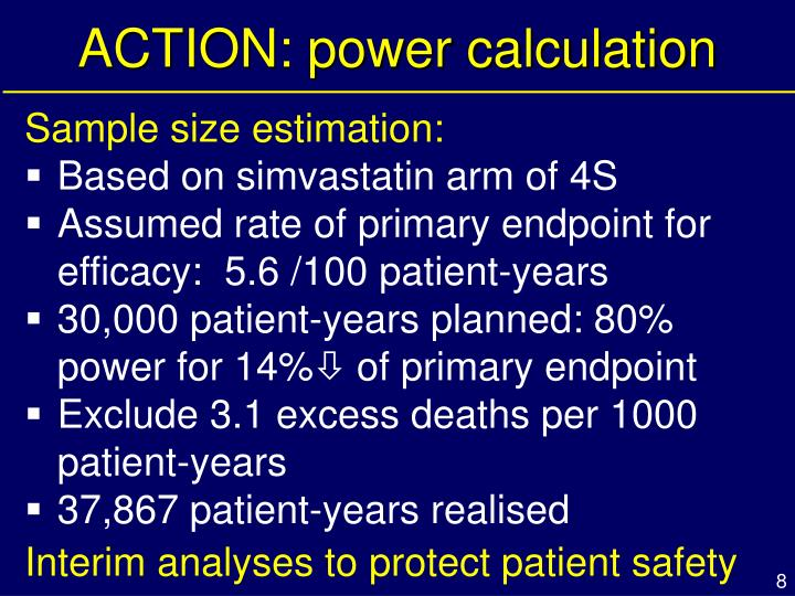ACTION: power calculation