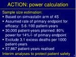 action power calculation