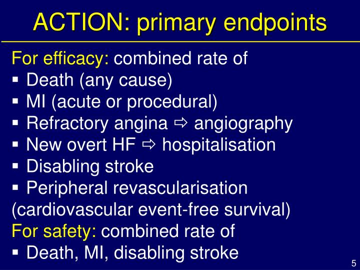 ACTION: primary endpoints
