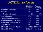 action risk factors