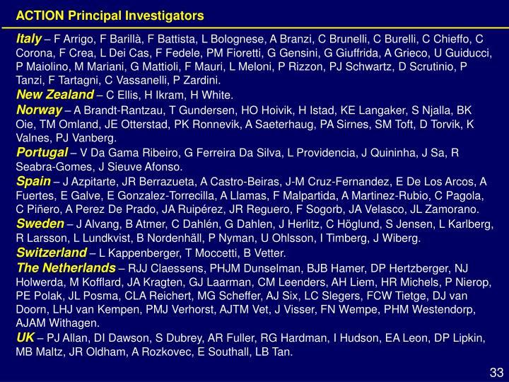 ACTION Principal Investigators
