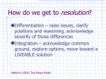 how do we get to resolution