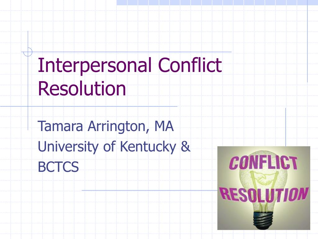 interpersonal conflict resolution l.