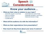speech considerations15
