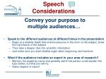 speech considerations18