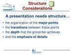 structure considerations22