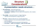 structure considerations23