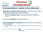 structure considerations26