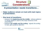 structure considerations27