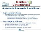 structure considerations31