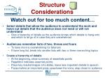 structure considerations32
