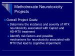 methotrexate neurotoxicity projects