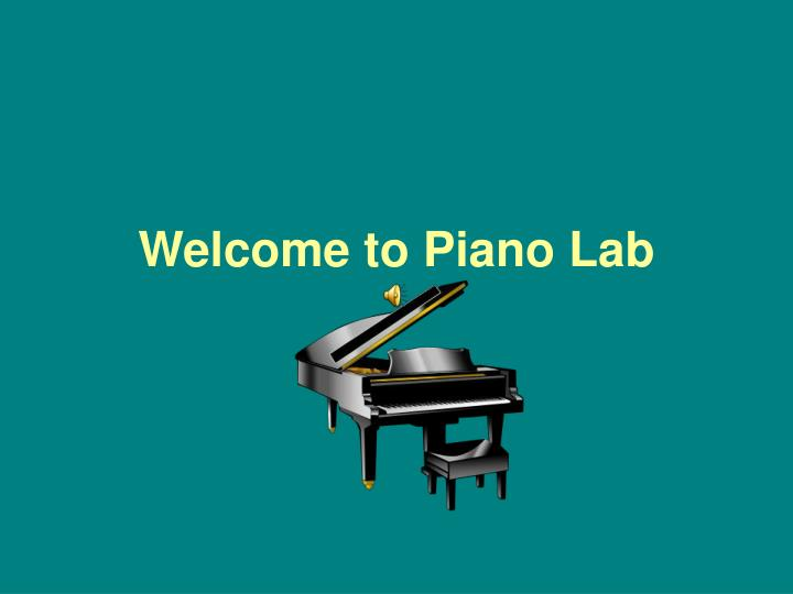 welcome to piano lab n.