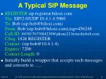 a typical sip message