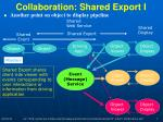 collaboration shared export i