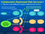 collaborative replicated web services i