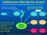 collaborative web service access