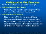collaborative web services
