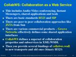 collabws collaboration as a web service