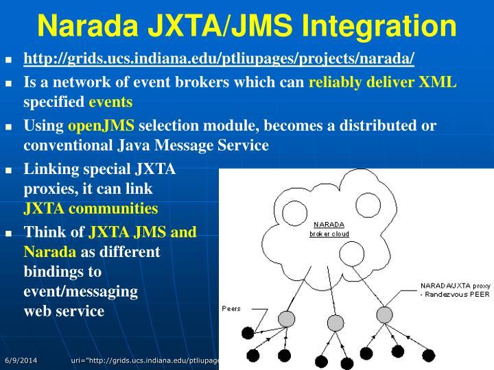Narada JXTA/JMS Integration