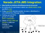 narada jxta jms integration