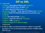 sip as xml